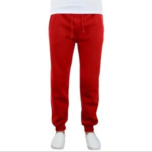 Galaxy By HARVIC Mens Red Joggers Size L